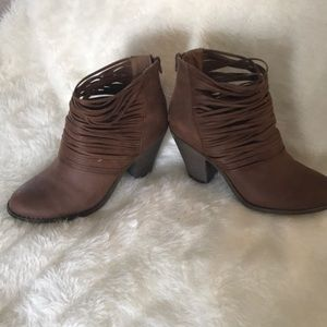 Fergalicious Brown Ankle Booties